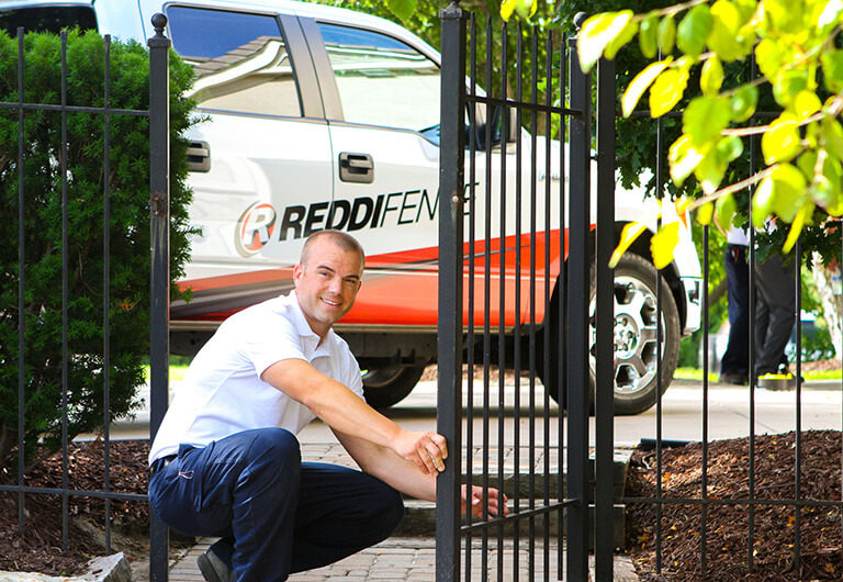 Reddi Fence Tech Installing Wrought Iron Fence