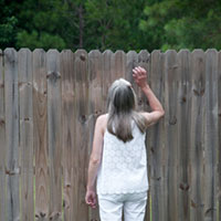 Neighbor Looking Through Privacy Fence