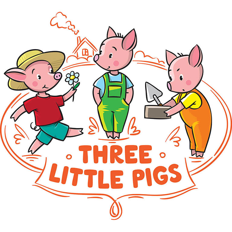 The Three Little Pigs Graphic